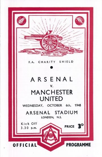 1948 FA CHARITY SHIELD  Arsenal v Manchester United - Full replica match programme